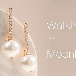 Alicia Bonnie Walking in Moonlight Pearl Earrings